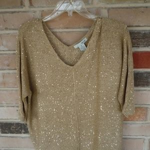 WD.NY Gold Sequin Top